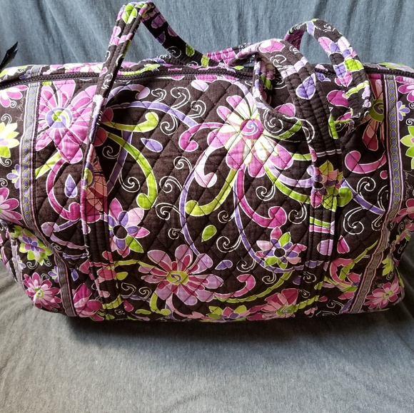 Vera Bradley Bags   Large Duffel Bag Purple Punch Rare   Poshmark d8f19bcfb6